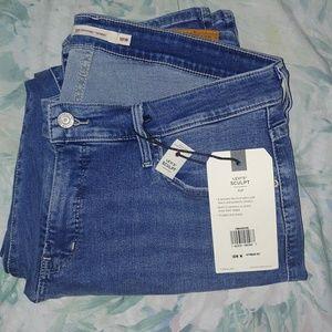 Levis 311 skinny jeans size 18w